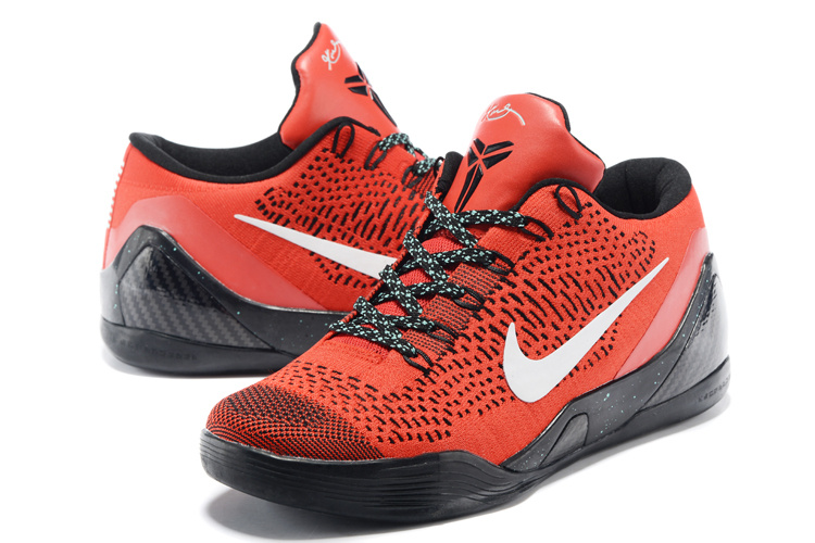 Nike Kobe Bryant 9 Low Knit Red Black Shoes