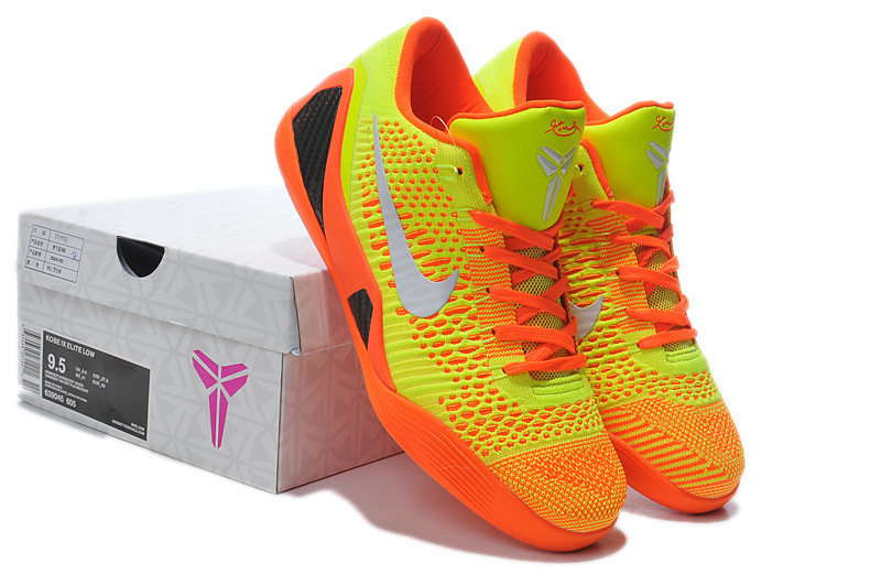 Nike Kobe Bryant 9 Low Knit Yellow Orange Shoes