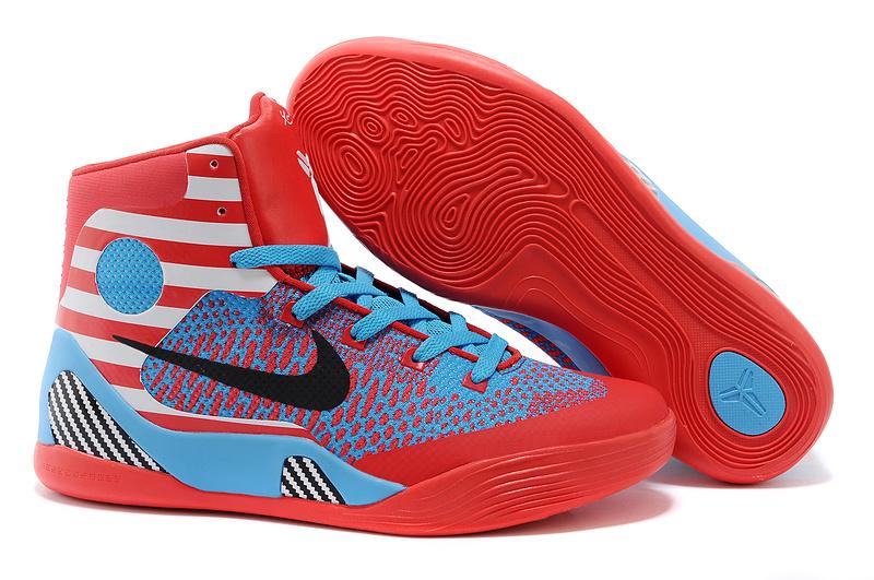 Nike Kobe Bryant 9 Middle Blue Red Black Shoes