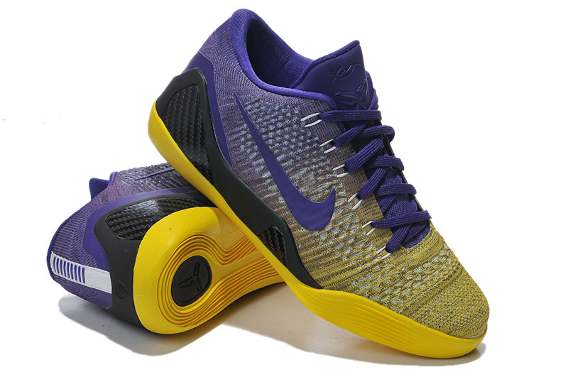 Nike Kobe Bryant 9 Low Purple Yellow Black Shoes