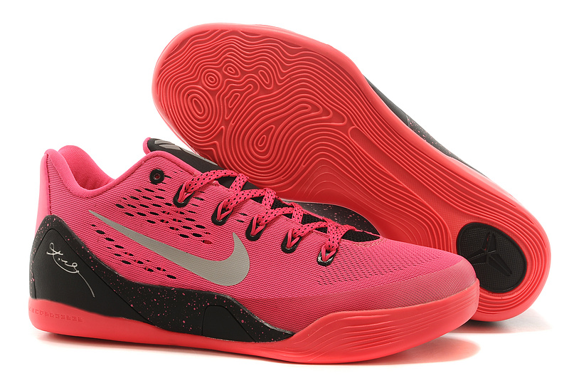 Nike Kobe Bryant 9 Low Red Black Silver Logo Shoes
