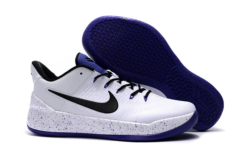 Nike Kobe Bryant A.D. White Blue Black Shoes