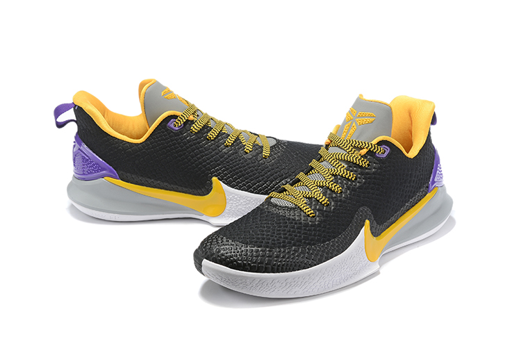 2019 Nike Kobe Mamba Black Yellow White Shoes