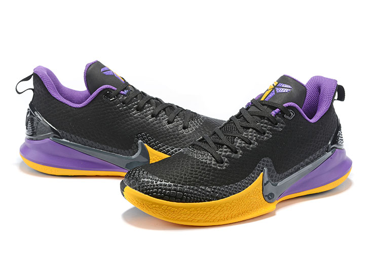 2019 Nike Kobe Mamba Lakers Black Yellow Purple Shoes