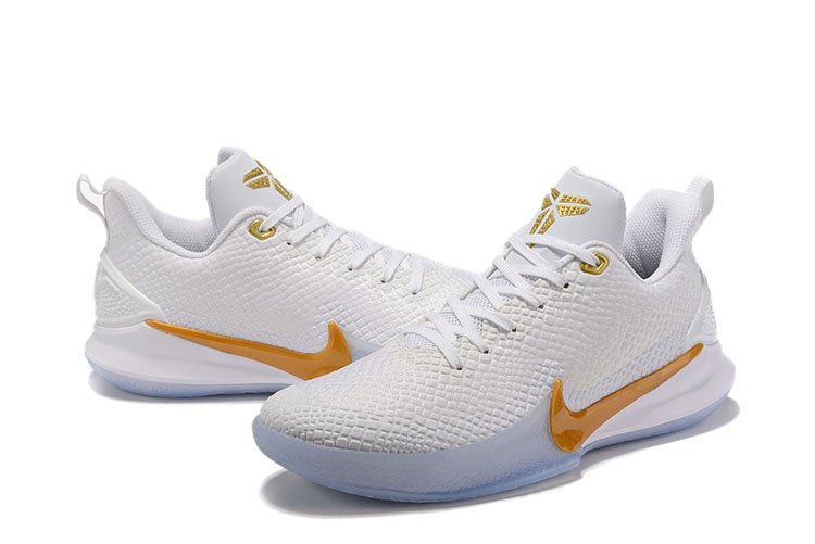 2019 Nike Kobe Mamba White Gloden Shoes