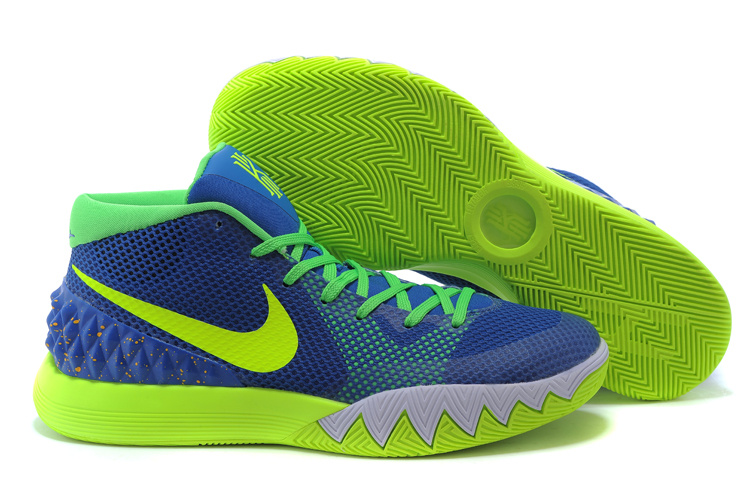 Nike Kyrie 1 Blue Fluorscent Green Basketball Shoes