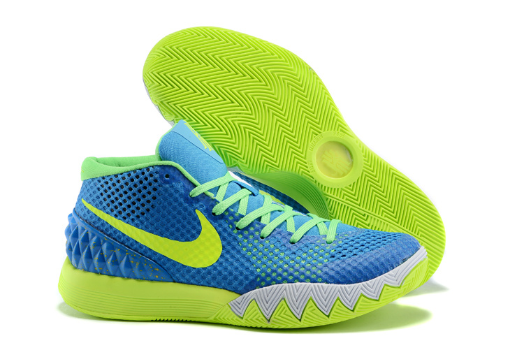 Nike Kyrie 1 Blue Fluorscent Green Sole Shoes