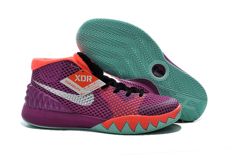 Nike Kyrie 1 Easter Purple Orange Green Shoes