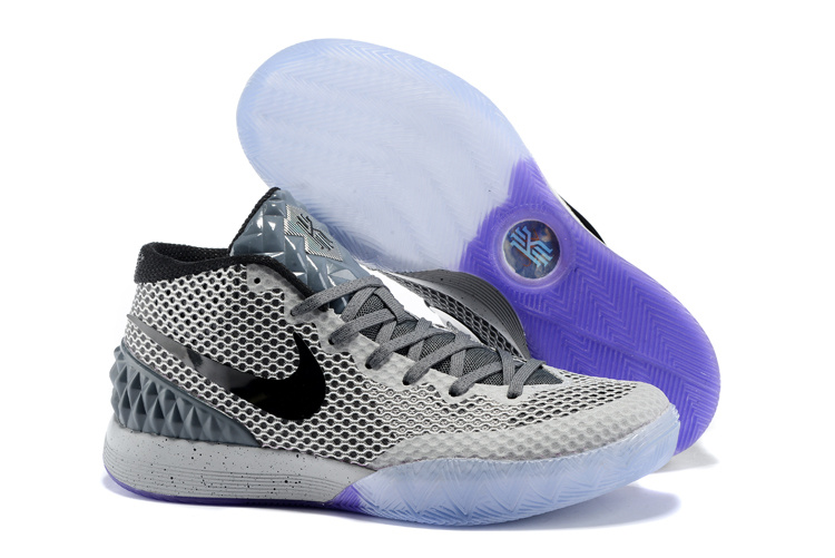Nike Kyrie 1 Grey Black Purple Sole Shoes