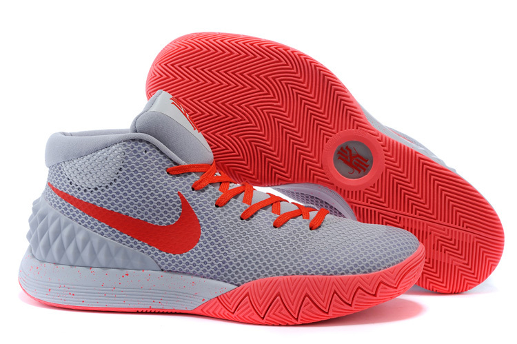 Nike Kyrie 1 Grey Red Basketball Shoes