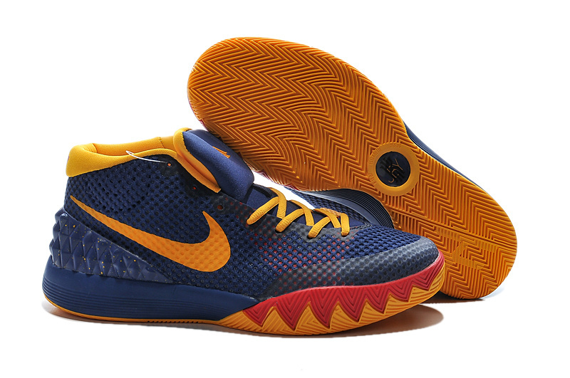 Nike Kyrie 1 Shoes 57 Minutes Dark Blue Yellow Red