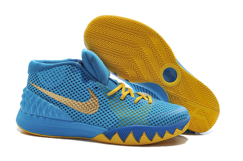 Nike Kyrie 1 Sky Blue Yellow Shoes