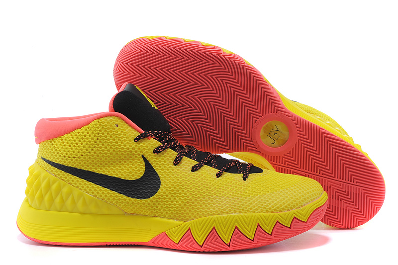 Nike Kyrie 1 Yellow Red Basketball Shoes