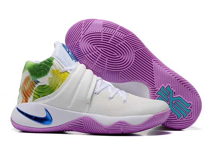 Nike Kyrie 2 White Purple Green Shoes