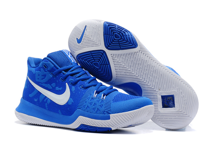 Nike Kyrie 3 Flyknit Royal Blue White Shoes