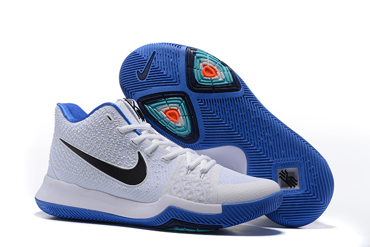 Nike Kyrie 3 White Blue Basketball Shoes
