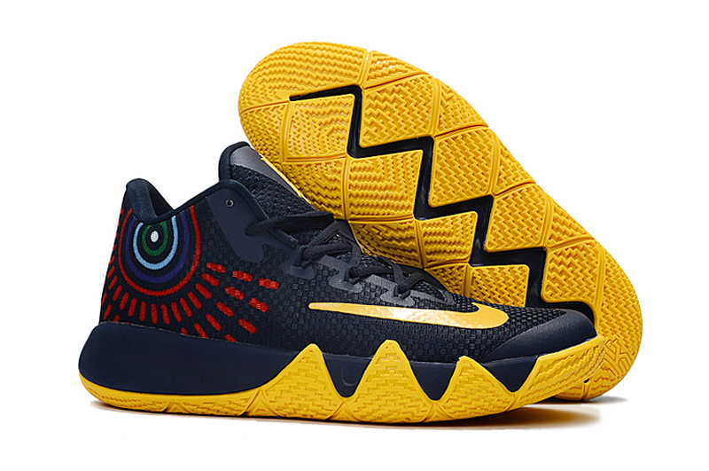 Nike Kyrie 4 Black Yellow Red Shoes