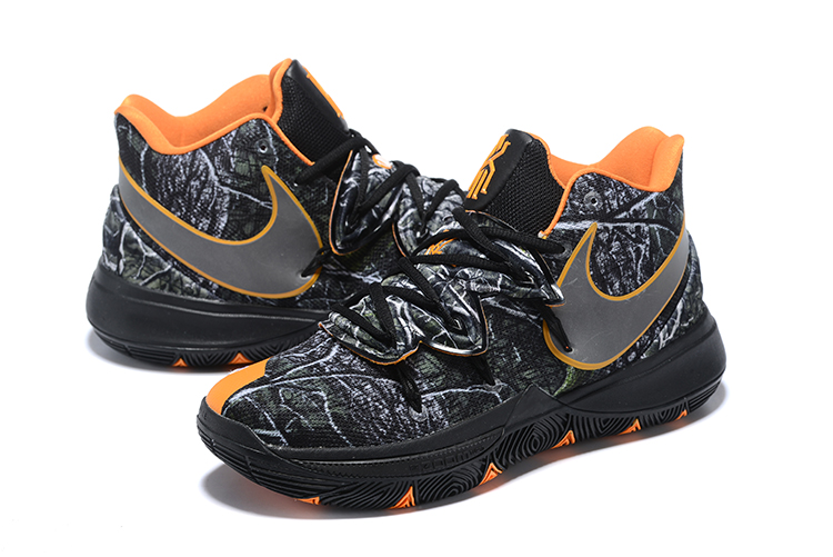 Nike Kyrie 5 Black Grey Orange Swoosh Shoes