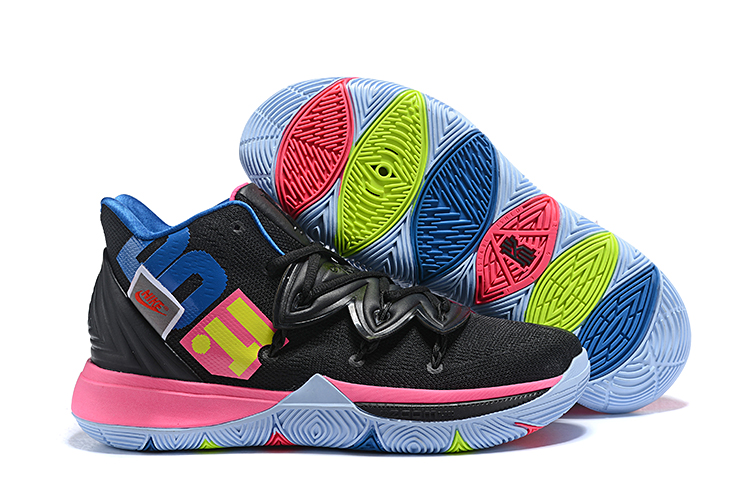 Nike Kyrie 5 Black Pink Blue Color Part Shoes
