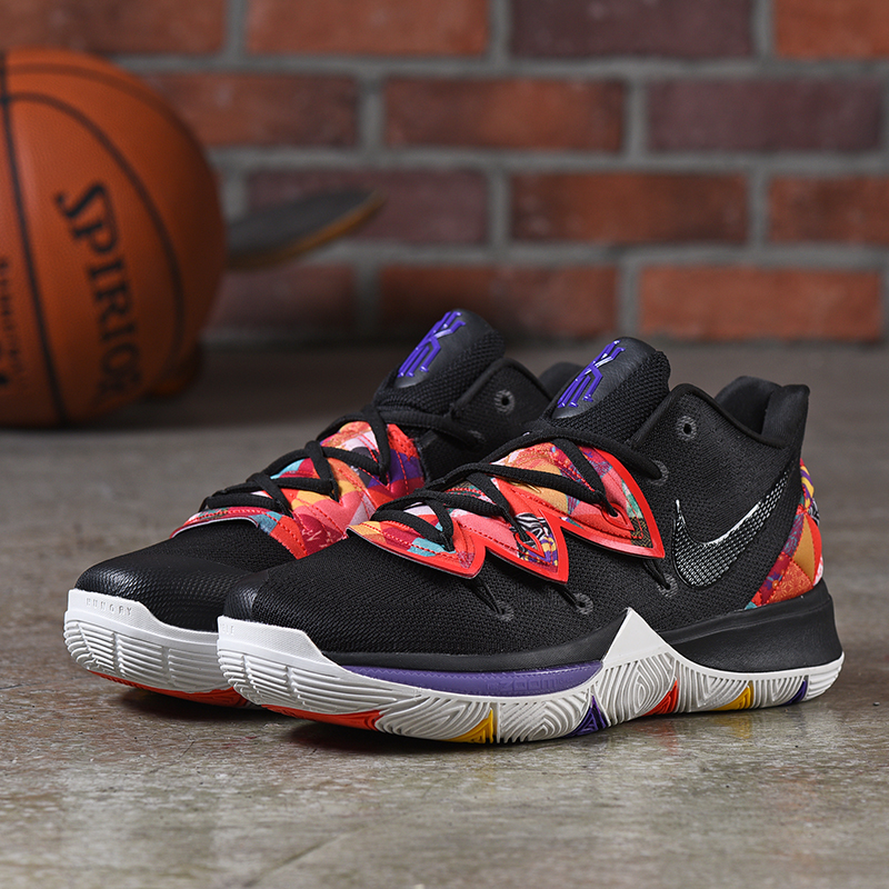 Nike Kyrie 5 Black Red Blue Shoes