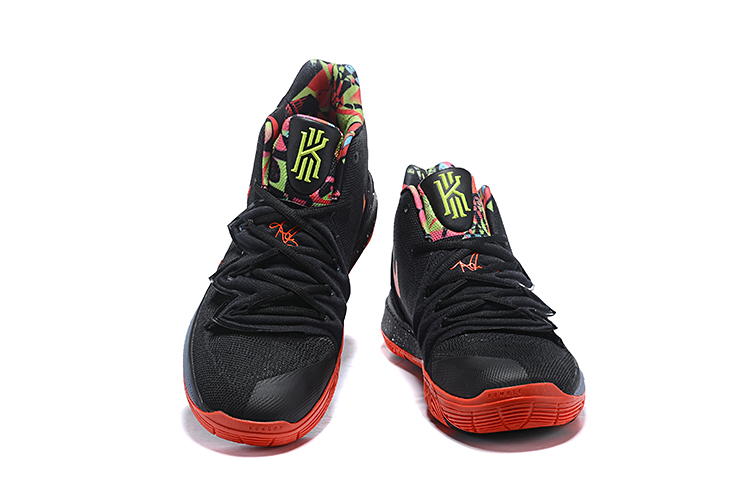 Nike Kyrie 5 Black Red Yellow Swoosh Shoes