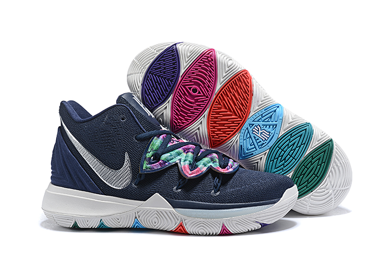 Nike Kyrie 5 Dark Blue White Color Part Shoes