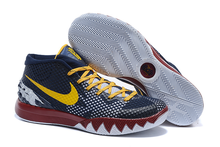 Nike Kyrie 1 Dark Blue Yellow Red White Shoes