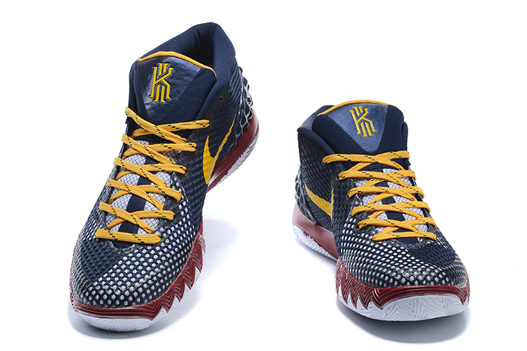 Nike Kyrie Irving 1 I Men Shoes What The Bel Air Orange ...  Kyrie 1 Blue And Yellow