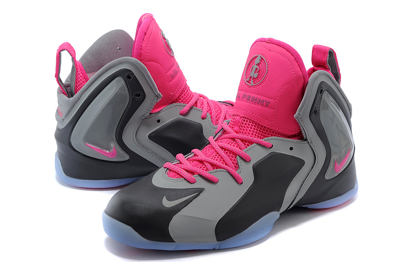 d62c66bf989 Nike LIL Penny Hardaway Grey Black Pink Shoes Nike LIL Penny ...