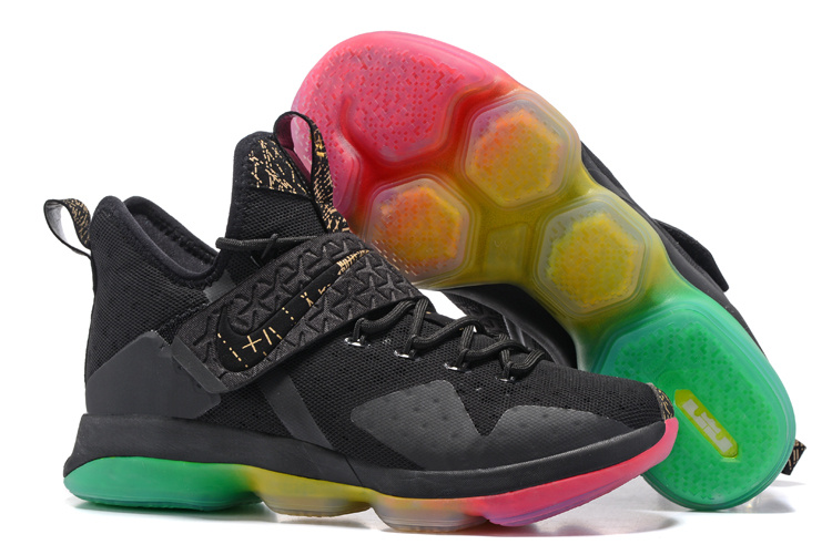 Nike LeBron 14 Black Rainbow Sole Shoes