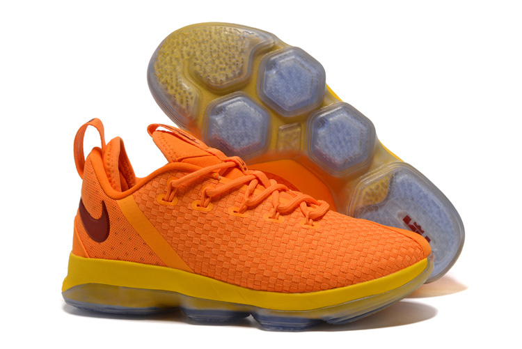 Nike LeBron 14 Low Yellow Wine Red Shoes