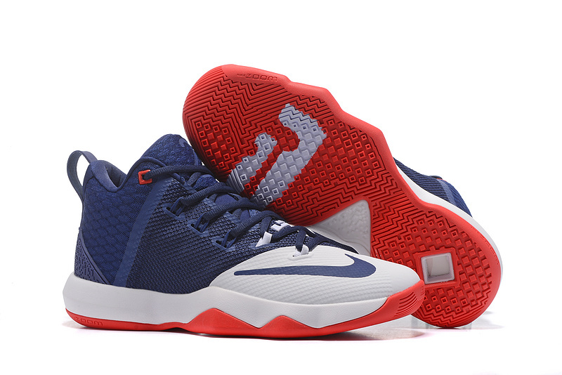 Nike LeBron Ambassador 9 Blue White Red Shoes