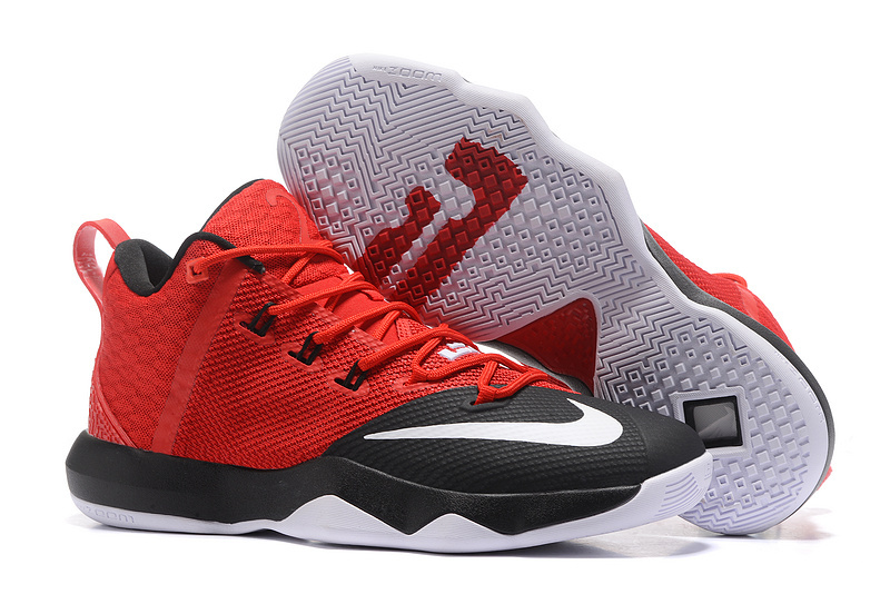 Nike LeBron Ambassador IX Red Black White Shoes