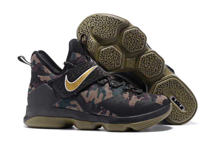 Nike LeBron James 14 Camo Black Shoes