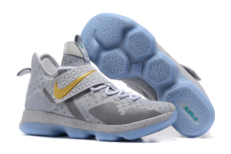 Nike LeBron James 14 Openning night Wolf Grey Gold Shoes