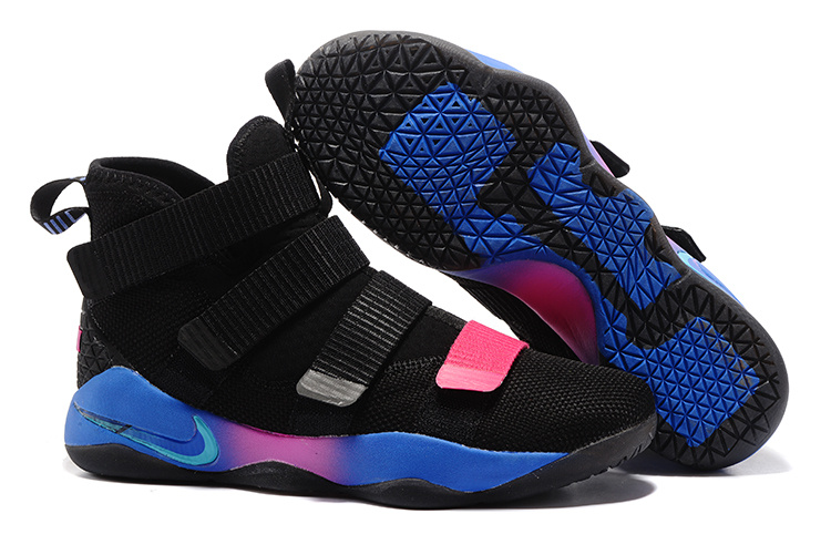 Nike LeBron Soldier 11 Black Blue Shoes