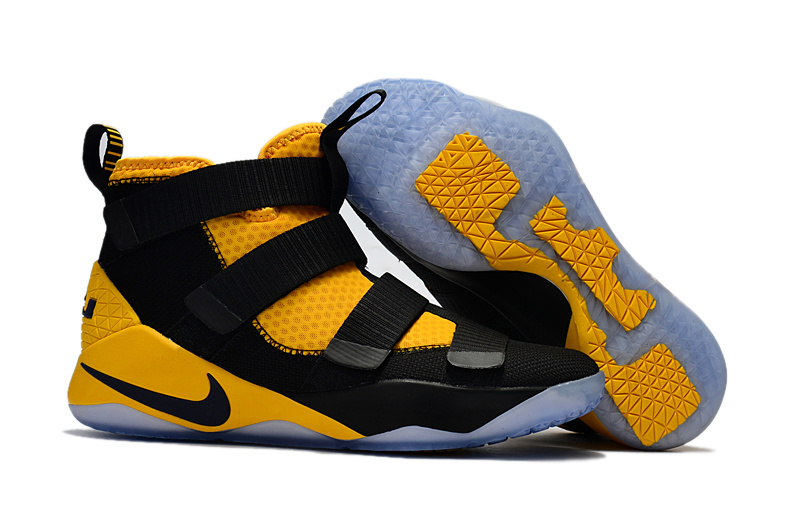 Nike LeBron Soldier 11 Black Yellow Shoes