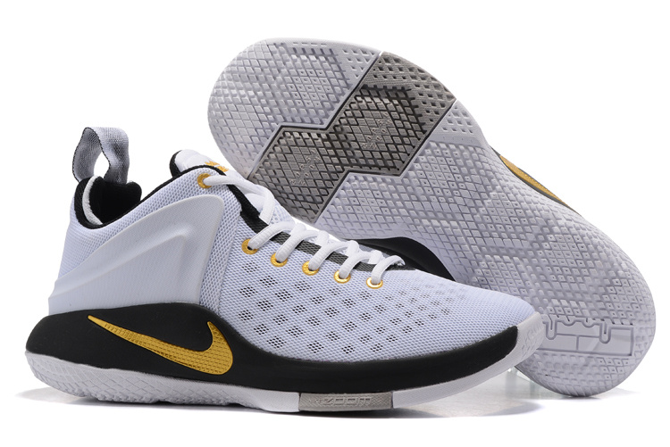 Nike LeBron Witness I White Black Gold Shoes