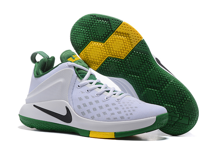 Nike LeBron Zoom Witness EP White Green Yellow Shoes