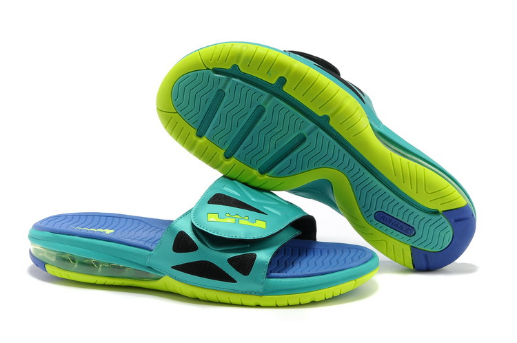Nike Lebron James Hydro 10 Air Cushion Green Blue Sandal