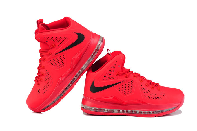 Nike Lebron James 10 Red Black Shoes