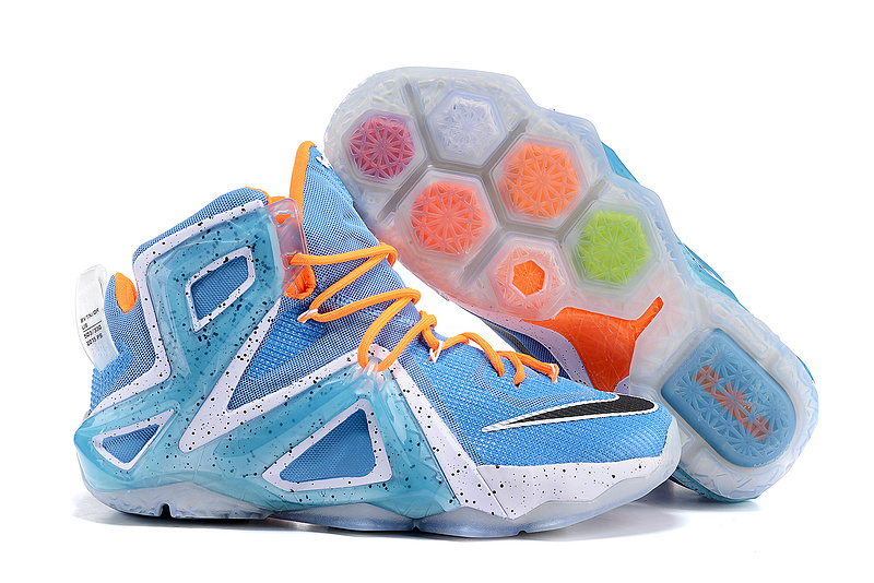 Nike Lebron 12 Elite Bbay Blue Orange Shoes