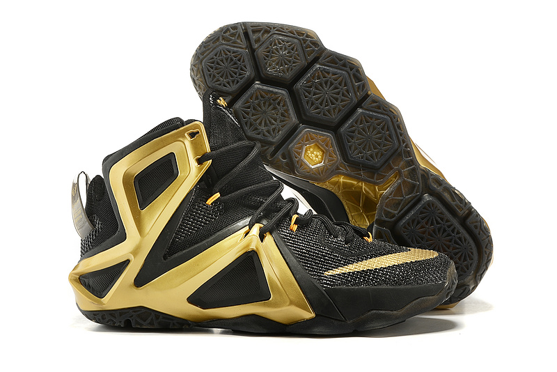 Nike Lebron 12 Elite Black Gold Shoes