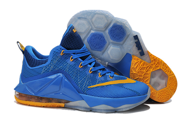 Nike Lebron 12 Low Blue Yellow Shoes