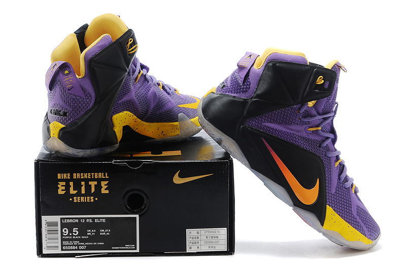 promo code 28203 eab3e ... greece nike lebron james 12 purple black yellow basketball shoes b93c1  c0f9c