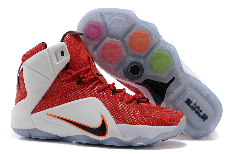 Nike Lebron James 12 Red White Basketball Shoes