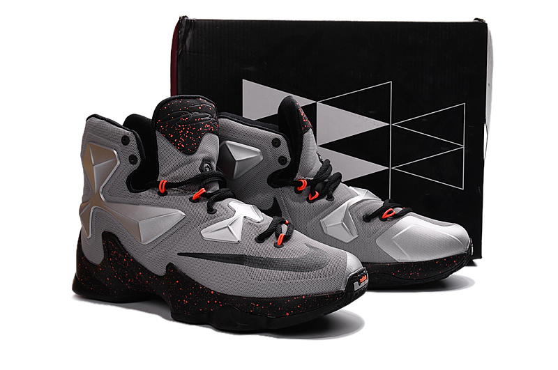 Nike Lebron 13 Fdrill Grey Black Red Shoes