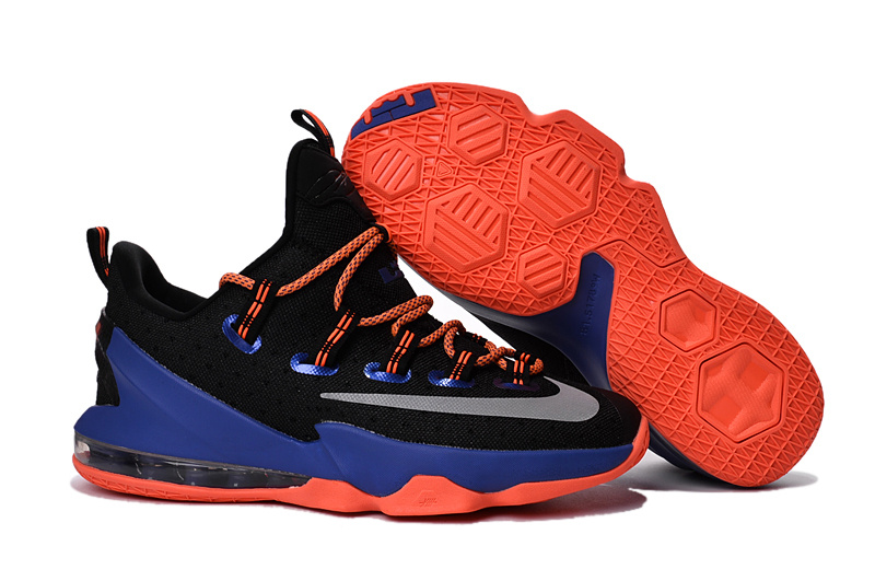 Nike Lebron 13 Low Black Blue Orange Shoes