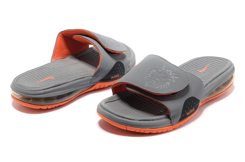 Nike Lebron James Hydro 9 Grey Orange Sandal