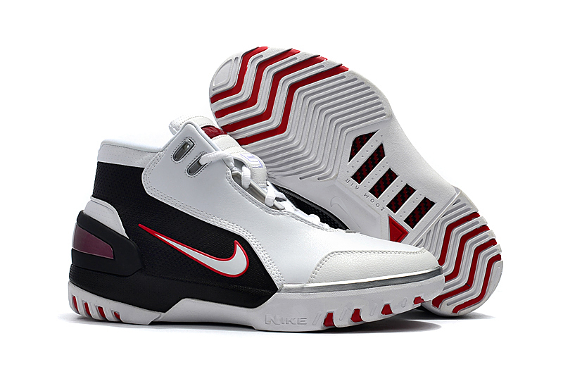 Nike Lebron James 1 Copy Cloning Limited White Black Red Shoes